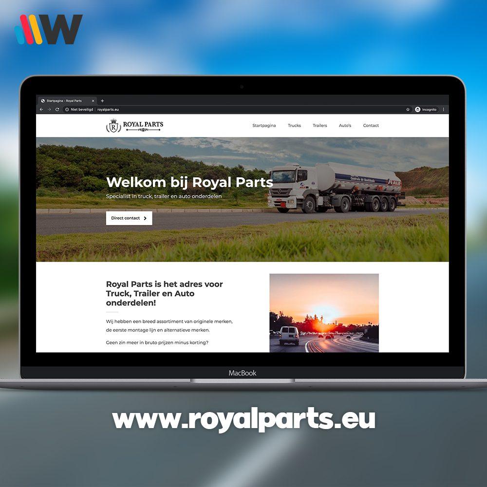 Royalparts website
